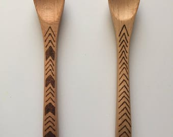 Mini Woodburned Spoon (1 tsp size)
