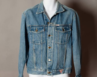 Vintage 80s 90s Denim Jean Jacket - GEORGES MARCIANO for GUESS