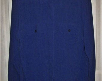 Vintage Ladies Blue Long Sleeve Silk Blouse by Petite Christie & Jill Small Only 8 USD