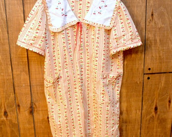 Vintage 90's Nightgown Dress with Cherries Plus Size Grunge Kinderwhore Aesthetic