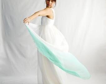 Ombre wedding dress, Maternity wedding dress, Dip dyed wedding dress, Empire wedding dress, Romantic wedding dress, Fairy wedding dress