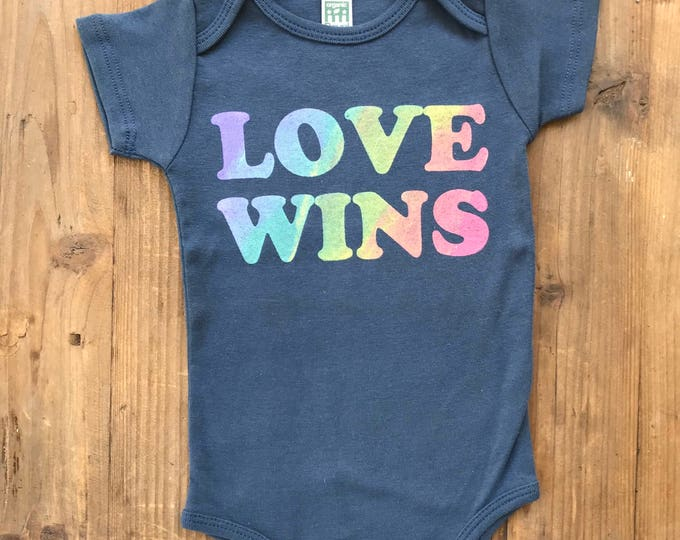 LOVE WINS Organic Bodysuit Onesie