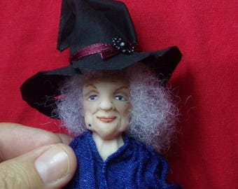 OOak miniature witch for Dollhouse 1:12 scale