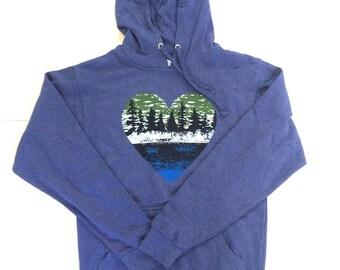 hooded sweatshirt-outdoors gift-outdoors shirt-lake life-lake shirt-nature shirt-hoodie-graphic tee-sweatshirt-Gift for Her-Gift for Him