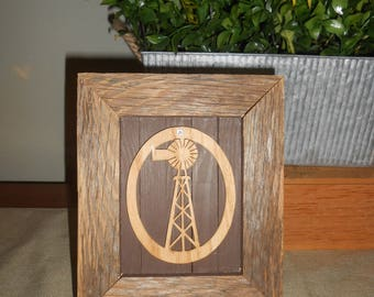 Windmill on Rustic Frame - Home Decor -