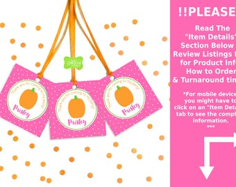 Little Pumpkin Favor Tags - Pumpkin Thank You Tags - Little Pumpkin Gift Tags - Digital & Printed Tags Available