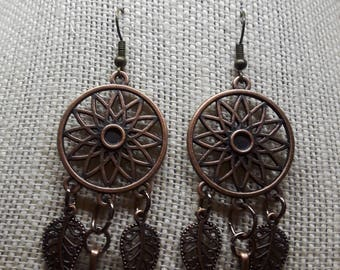 "2"" Copper Indian Style Earrings"