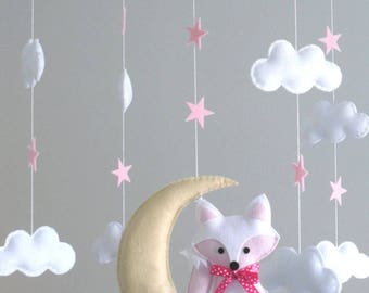 Baby Mobile - Fox and Moon