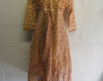 Vintage Retro BOHO Hippie Dress