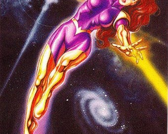 Vintage Maxima Trading Card, Promotional Card, Skybox, DC Comics, 1994, Character, Superman Titles, Justice League, Superheroine