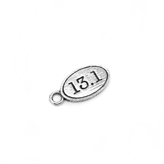 13.1 Marathon Charm for Runners - Athlete - Fitness Jewelry - Fitness Accessories - Pewter Nickel-Free Charm - Hypoallergenic
