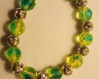 Yellow/Green Beaded Bracelet