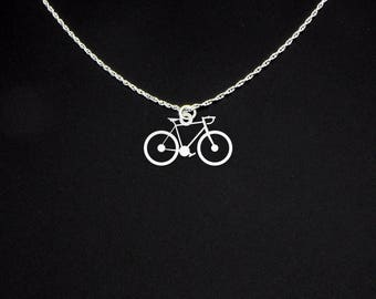 Bicycle Necklace - Bike Necklace - Bicycle Gift - Bike Gift - Bicycle Jewelry - Bike Jewelry - Cyclist Necklace - Cyclist Gift