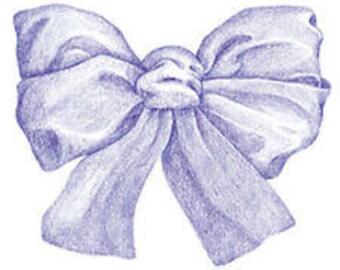 Shop Closing Sale!  Blue Bow Wallies Wallpaper Cutouts -- 12041