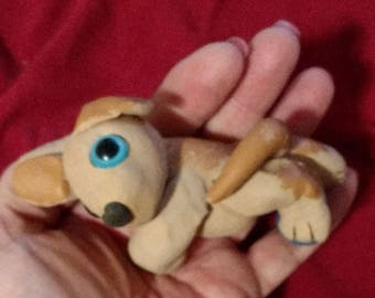OOAK Cutie Critter - Labrador puppy, Labrador Retriever, Golden Lab, Puppy, Dog, Art, Clay, Sculpture, Handmade