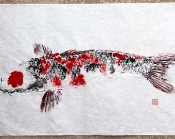 Gyotaku unique traditional japanese fish by fishingforgyotaku - Decoratie kooi ...