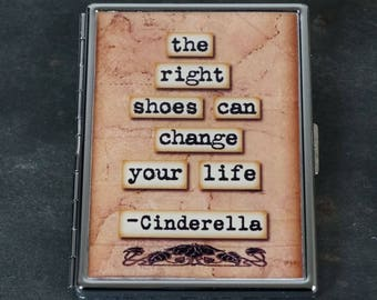 Cigarette Case Cigarette Box Metal Cigarette Case Cinderella The Right Shoes Can Change Your Life - Cinderella