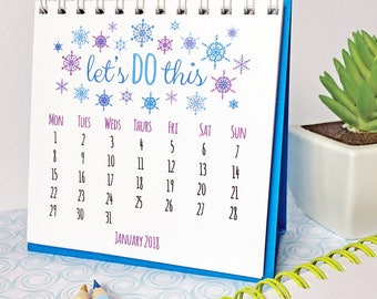 2018 Quotes Calendar - Inspirational Quotes - 2018 Desk Calendar - Happy Calendar - Mini Calendar - Positive Quotes - 2018 Calendar for Desk