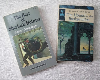 Sherlock Holmes Hound Baskervilles Best Stories Arthur Conan Doyle Victorian Mystery Paperback Book Classic Cover Dr Watson Sleuth Halloween