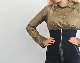 vintage blouse golden