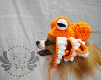 ANY Sizes/Colors Pet Octopus Kraken Hat Beanie (XS-XL)