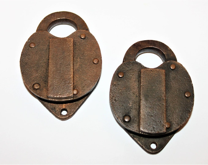 Vintage Pair of Brass Padlocks 1963 & 1964