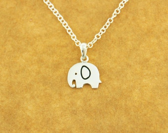 Elephant Necklace - Elephant silver - Handmade in sterling silver