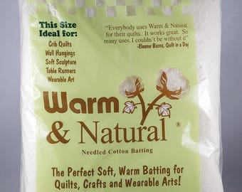 Warm & Natural Baby Crib Size Needled Cotton Batting NEW
