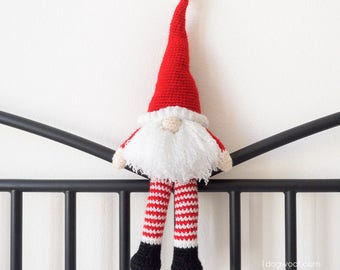 Scandinavian Santa Gnome Amigurumi Crochet Pattern