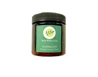 Soothing Earth Facial Mask, 4 ounces, Face Mask, Clay Mask, Mud Mask, Beauty Care, Natural Facial Mask, Acne Mask, Natural Skin Care