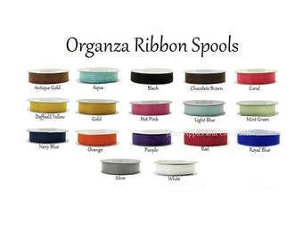 Organza Ribbon 25 yrds  5/8 inches