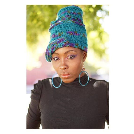 Crochet Hat. Gele Hat. Wraps. Loc hat. Dreadlock Hat.  Ta Ankh.