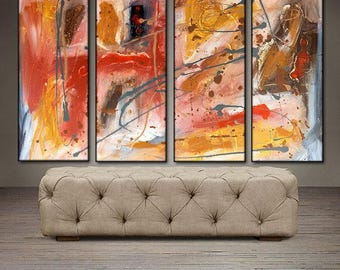 """Fall Dusk- 40"""" X 30"""" Original Art . Free shipping within contiguous USA"""
