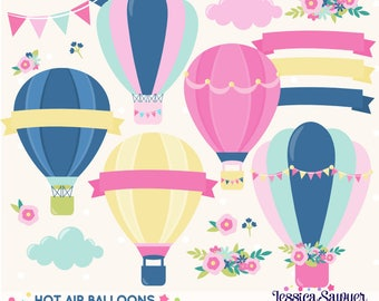 INSTANT DOWNLOAD - Hot Air Balloon Clipart