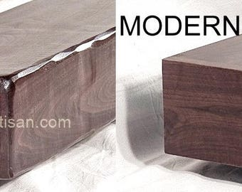 Rustic or Modern Walnut Fireplace Mantel Mantle Shelf Beam Custom Made to Your Size