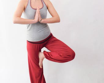 Lounge Pants, Yoga Pants, Jogger Pants, Loose Pants, Highwaisted Pants, Red Lounge Pants, Red Yoga Pants, Red Loose Pants, Red Pants