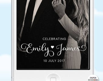 Wedding Geofilter, Elegant Snapchat Filter, Custom Filter Wedding Calligraphy Wedding Filter, Snapchat Wedding Filter, Boho Geofilter