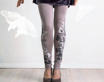 Breakfast with butterflies - leggings