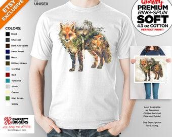 T Shirt of my Fox Wildlife Surreal Nature Original art clothing design for Men and Women by Barrett Biggers