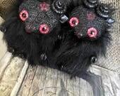 Mini seth the goat flumpkin // horror black phillip pentagram art doll toy creature goats black metal