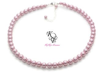 Necklaces for Girls - Toddler Necklace - Little Girl Jewelry - Swarovski Pearl Necklace - Little Girl Necklace - FREE Gift Box - Girl Gift