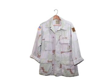 Vintage Camo Shirt Desert Camo Shirt Army Desert Camo Shirt Military Camo Shirt Desert Storm Camo Shirt Jacket