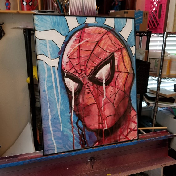 Spider-Man Original Watercolor Painting