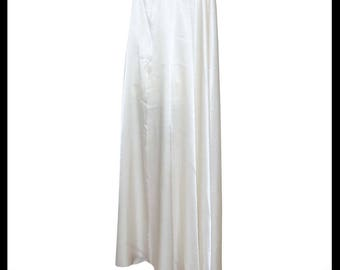 White Shimmer Satin Cloak lined with Shimmer Satin. Ideal for LARP LRP Medieval Winter Wedding. Made especially for you. NEW!