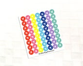 2 Dollar Tuesday Airplane Multicolor Icon Stickers, Travel Planner