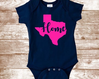 Texas Shirt -State - Home Shirt - Home Apparel - Southern Shirt - Kids Clothing - Baby Gift - Baby Bodysuit - Graphic Tee - Baby Shower Gift