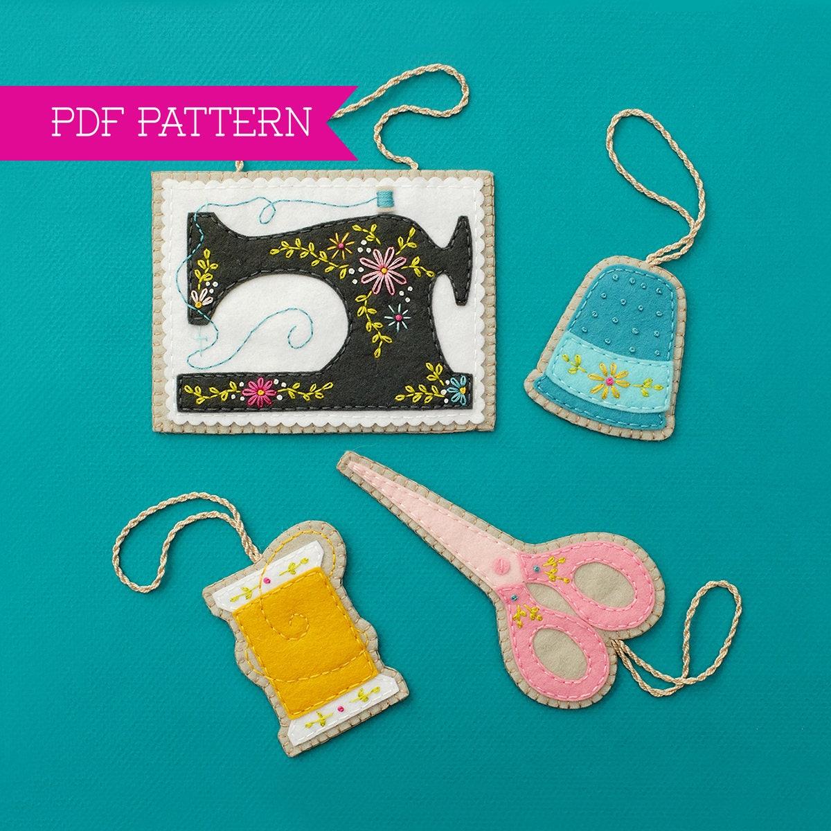 Sewing Ornaments PDF pattern Ornament Pattern Sewing