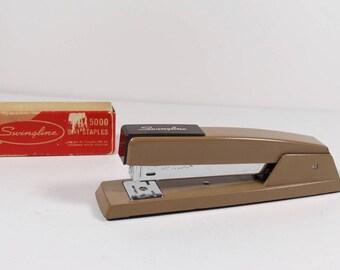 Swingline 747 Office Stapler Midcentury Office Vintage Stapler Industrial Office Stapler Swingline Stapler Tan With Swingline Staples