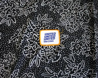 Vintage United Van Lines Embroidered Patch. 70s or 80s Rare Worker Driver Industrial Patch. White Worker Trucker Drink Distro Patch