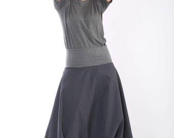 HAREM Pants Women, Drop Crotch Pants, Black Skirt Pants, Cotton Trousers, Baggy Pants, Summer Clothing